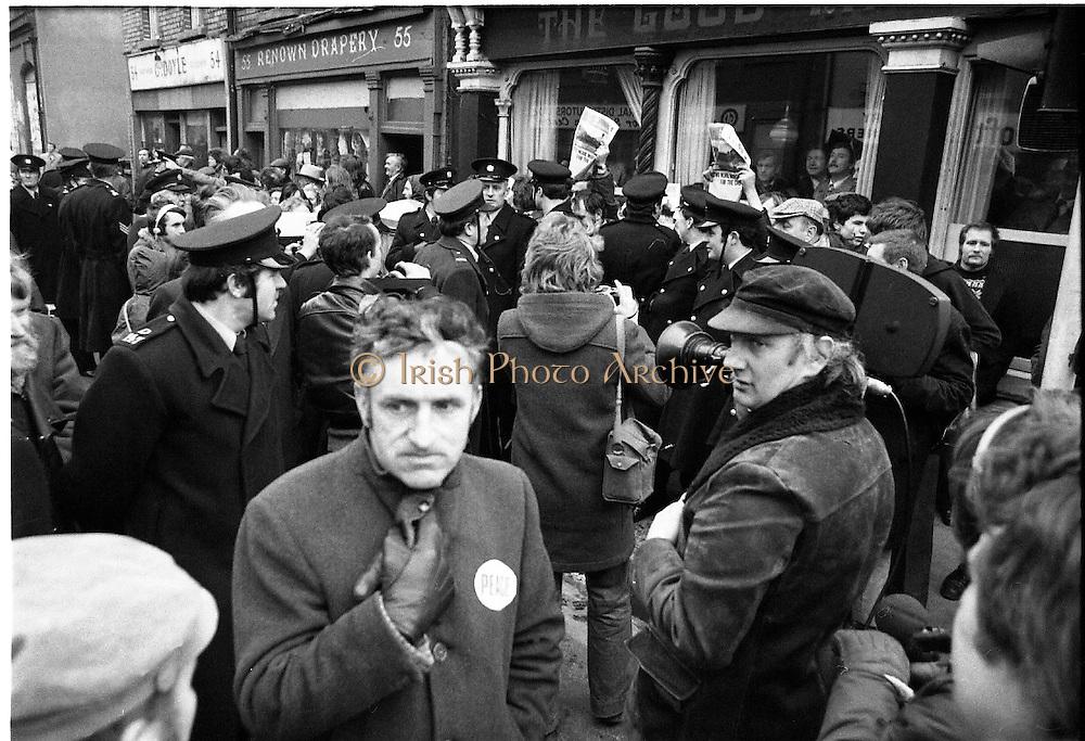 Peace People walk past Kevin St. (Sinn Fein HQ) 08/02/1978