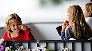 ROTTERDAM - Koning Willem-Alexander, koningin Maxima en hun dochters (VLNR) Amalia, Ariane en Alexia zijn aanwezig bij de Longines Grand Prix Port of Rotterdam tijdens het CHIO in Rotterdam. Dutch King Willem Alexander and Queen Maxima attends the Longines Grand Prix Port of Rotterdam sunday with the three princesses Amalia , Ariane and Alexia  and the Japanese prinses Mako. COPYRIGHT ROBIN UTRECHT