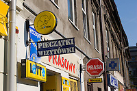 printing, lottery and chemist shop signs in krakow poland