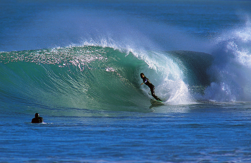 Surfing in the North Island of New Zealand