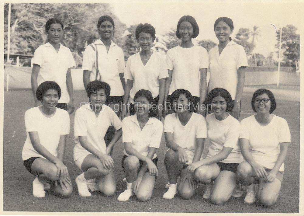 Victor Melder Collection. The Singapore Netball team in Sri Lanka (Ceylon) in 1970