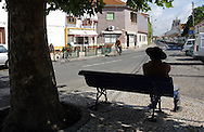 A man is seated on a public bench in Jose Saramago's birth place Aldeia da Azinhaga, central Portugal . Portuguese Nobel Prize of Literature, Jose Saramago, died at his house in Lanzarote on June 18. PAULO CUNHA/4SEEPHOTO