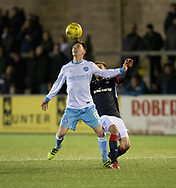 Forfar's Eoghan McCawl and Dundee&rsquo;s Nick Ross - Forfar Athletic v Dundee, Martyn Fotheringham testimonial at Station Park, Forfar.Photo: David Young<br /> <br />  - &copy; David Young - www.davidyoungphoto.co.uk - email: davidyoungphoto@gmail.com