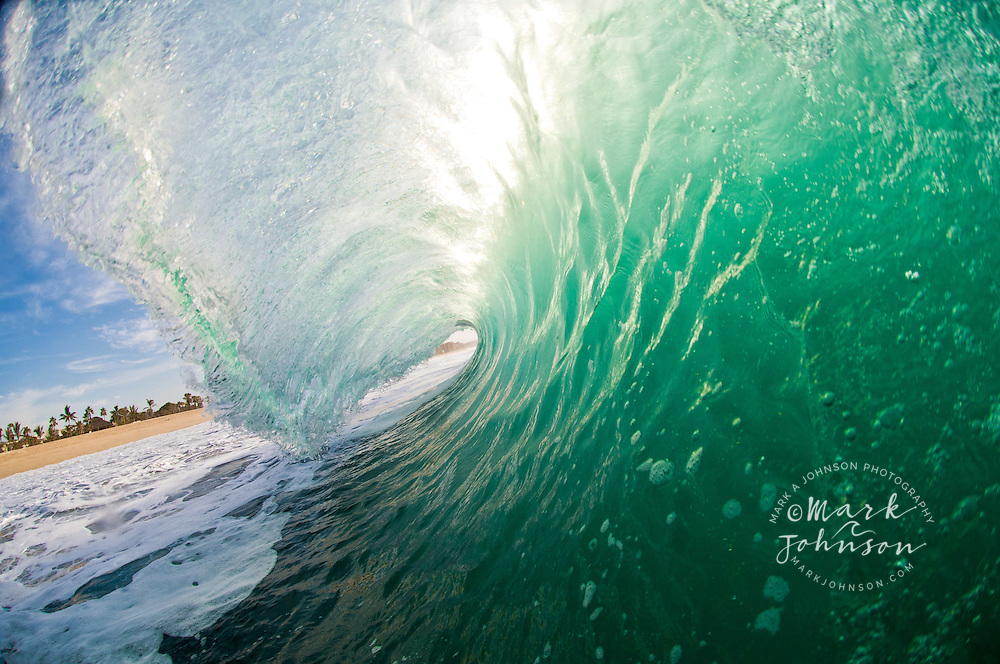 Inside a breaking wave, Baja California Sur, Mexico