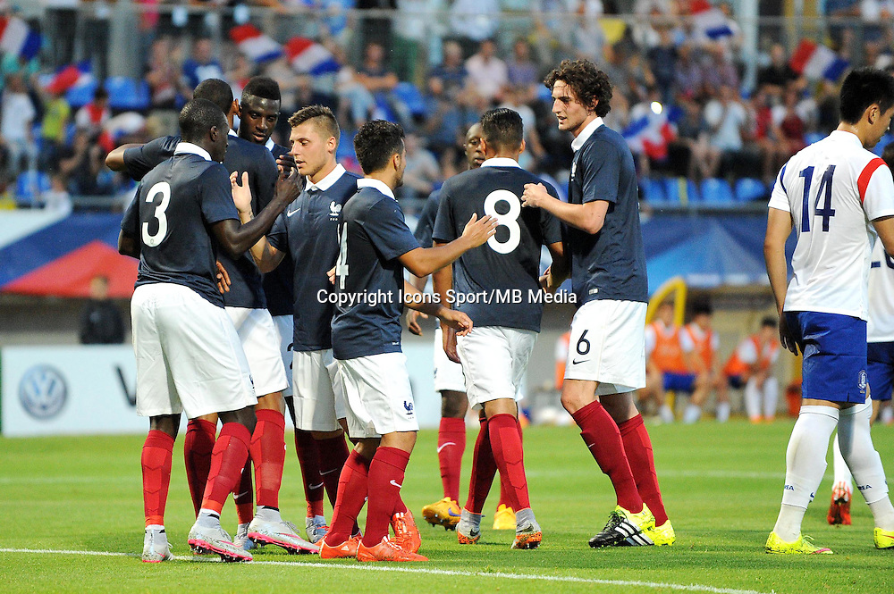 Joie France - Adrien RABIOT - 11.06.2015 - Football Espoirs - France / Coree du Sud - match amical -Gueugnon<br /> Photo : Jean Paul Thomas / Icon Sport