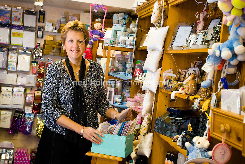 Linda Wesselby who runs her cards and gifts shop Wishes on Willerby Square