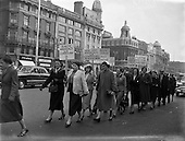 1957 - 25/04 Gaeltacht protest for Harry Corduff in Mountyjoy