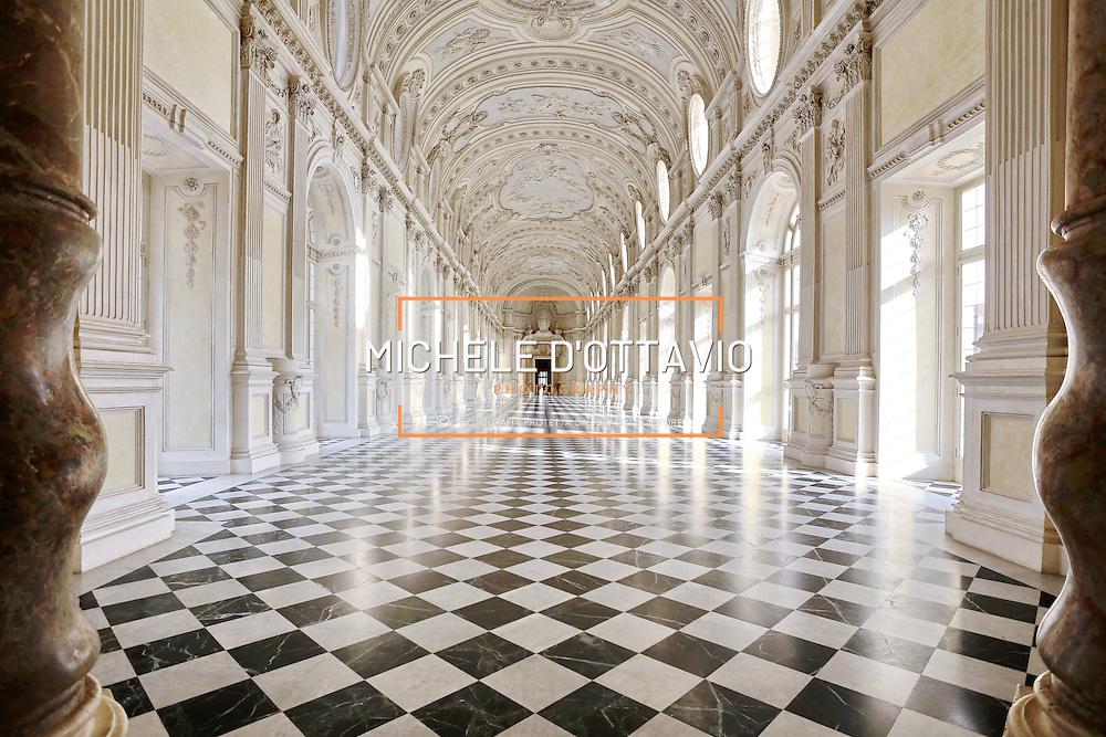 La Galleria di Diana della Reggia di Venaria, una delle principali residenze sabaude in Piemonte.