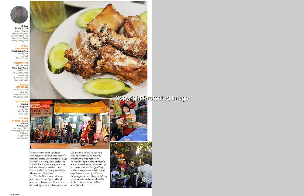 Sawasdee Magazine, Bia Hoi in Hanoi.