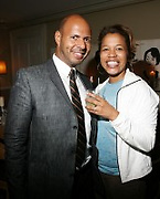 l to r: Emil Wibekin and Danyel Smith at The VIBE Magazine & Memsor Kamarake and Beverly Smith Salute to Black Men In Fashion ? NY Fashion Week Fall ?08 held Norwood on September 11, 2008