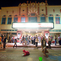 090812       Brian Leddy.Acrowd spills out of El Morro Theater during the September ArtsCrawl.