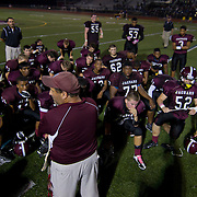 10/05/12 - Middletown, DE - Appoquinimink Football - Appoquinimink Jeff Weiner (Center) talk to his team after a Week 5 DIAA 24 - 21 lose to St. Elizabeth Friday, Oct. 05, 2012, at Appoquinimink High School in Middletown DE. ..SAQUAN STIMPSON/Special to The News Journal