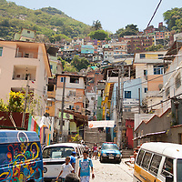 This is the community (also called favela) of Santa Marta in Rio. It's here that I began my journey through various slices of Rio Carioca culture on my last day in this beautiful city.