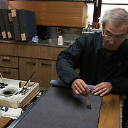 Tokyo, Japan, January 2011. Edo Komon Hirose, manufacturer dedicated to provide excellent quality Japanese designs for kimono textiles with techniques by skilled craftsmen who carried out the Japanese traditional cultures of EDO KOMON for more than 90 years.