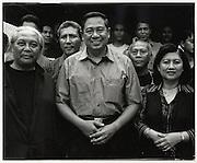 Soon to be President of Indonesia Susilio Bambang Yudhoyono with wife Kristiani Herwati and supporters - Jakarta Indonesia August 17 2004