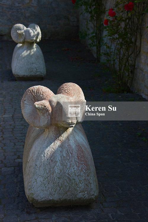 Sculpture of sheep, symbol of Visby, Gotland island, Sweden