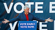 """Former President Bill Clinton appears for the """"Vote Early, Vote Now"""" rally to stump for Nevada Democratic candidates at the Las Vegas Springs Preserve on Thursday, October 23, 2014. L.E. Baskow"""