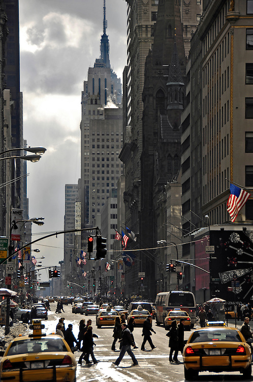 New York City. Manhattan. Looking south on Fifth Avenue.