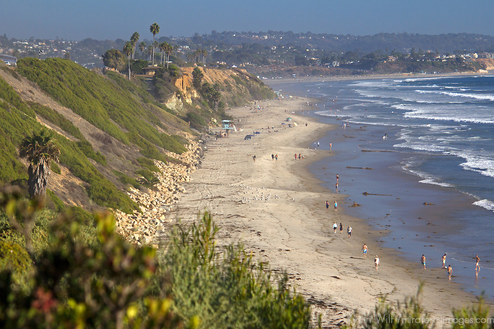 USA, California, Encinitas. Swami's, beach, Cardiff by the Sea.