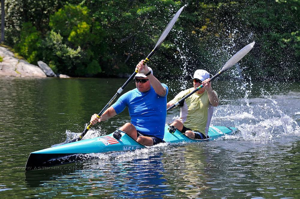 Sped on sprint kayak K-2