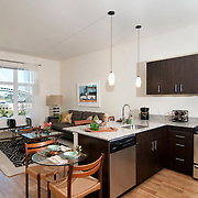 The Parker contains 177 lofts, one- and two-bedroom apartments, around 40 of which have been leased.
