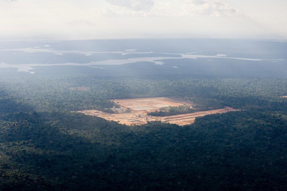 Views of a bauxite mine owned by Alcoa in the Juruti Municipality, Para State, Brazil, August 13, 2008..Daniel Beltra/Greenpeace