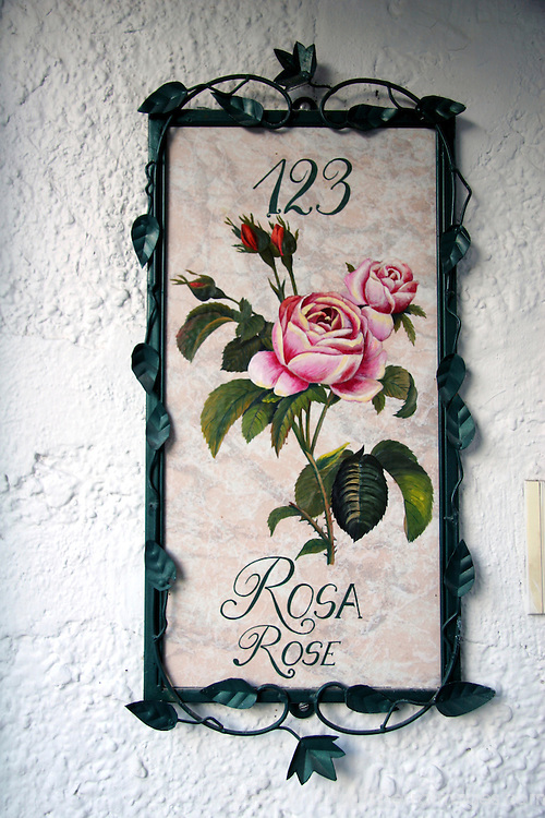 South America, Ecuador, Cotacachi. La Mirage Garden Hotel Rosa Room