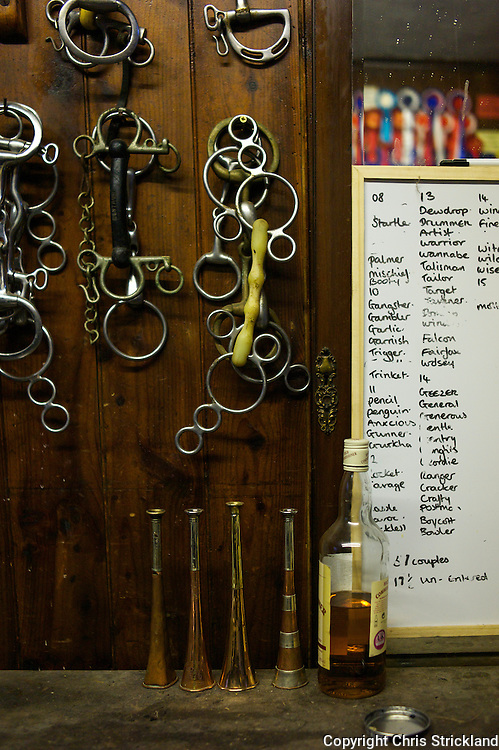 The essentials in the tack/valeting room at the Jedforest Hunt kennels.