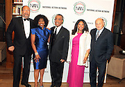 New York, NY-April 18: (L-R) Honoree Richard Parsons, Honoree Actress Pauletta Washington, Rev. Al Sharpton, Honoree Karla Ballard and Honoree Doug Morris attend Rev. Al Sharpton's National Action Network's Keeper of the Dream Awards held at Cipriani's Wall Street on April 18, 2012 in New York City. (Photo by Terrence Jennings)