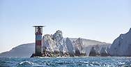 The Needles lighthouse, Isle of Wight.<br /> Picture date: Saturday June 27, 2015.<br /> Photograph by Christopher Ison &copy;<br /> 07544044177<br /> chris@christopherison.com<br /> www.christopherison.com