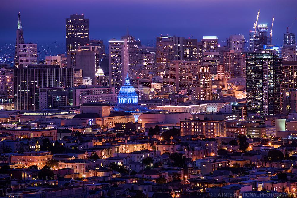 San Francisco Skyline from Corona Heights