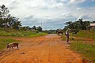 Road in the Macurije area, Pinar del Rio, Cuba.
