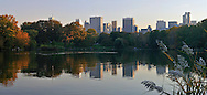 Evening in Central Park, Manhattan,