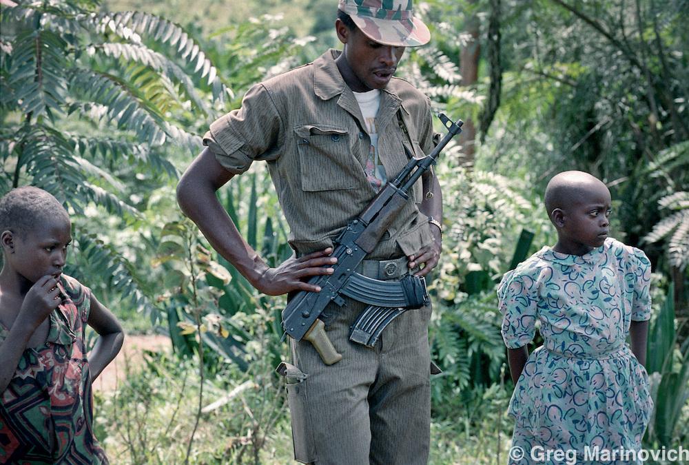 May 9, 1995 Reburial of genocide victims, Gatonde, Rwanda. Greg Marinovich