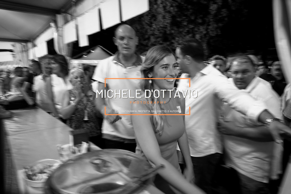 Maria Elena Boschi, ministro per le riforme Costituzionali alla festa de l'Unità di Torino 4/9/2016