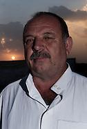 Iraq, Qayyara: Shaker Khalifa, displaced from Tob Zawa is portrait in Alkazik camp. Alessio Romenzi