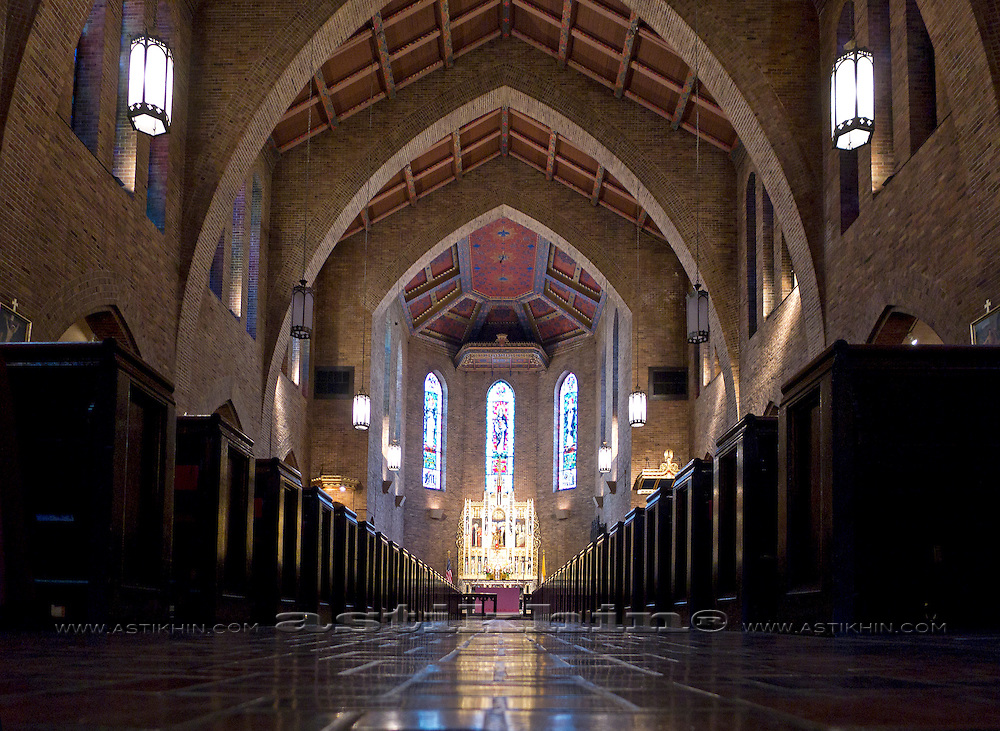 Interior of St Catherine of Siena Church.