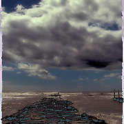 Polariod Transfer of clouds and sea scape