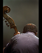 Bass Master Cachao during performance at the Heineken Jazz Fest, Anfiteatro Tito Puente in San Juan, Puerto Rico.  (2005)