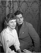 1956 - Robert Gallico with Miss Joyce O'Connor at the Gas Co. Theatre