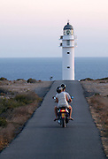 Popular lighthouse in Es Cap de Barbaria, the southest area in Formentera