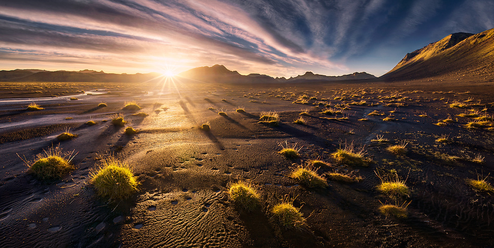 Iceland,highlands,sunset,maxrive,summer,panorama, langisjor
