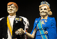 UTRECHT - In The Jaarbeurs are king Willem-Alexander and queen Maxima lifesize recreated with Lego bricks. The images are part of Lego World. The royal couple is made up of over one hundred thousand stones. COPYRIGHT ROBIN UTRECHT COPYRIGHT ROBIN UTRECHT