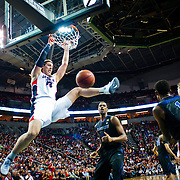 Kelly Olynyk dunks during Battle In Seattle at Key Arena. Photo by Austin Ilg