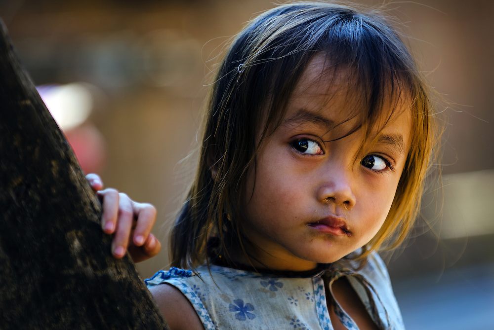 A young girl near Luang Prabang, Laos.