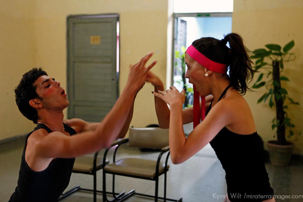 Central America, Cuba, Santa Clara. Mime performed at Santa Clara Musical School of Art.
