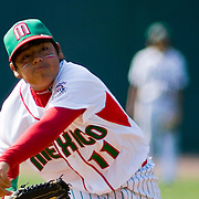8/16/10 Aberdeen, MD: Mexico pitcher JOSE MATZUMILLA went 3 for 3 with 1 RBI and pitching 4 shout innings as MEXICO 17 (3-0) crushes, CANADA 0  at Cal Ripken world series in Aberdeen MD. Special To Monsterphoto/SAQUAN STIMPSON