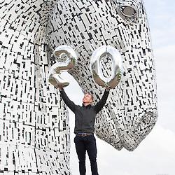 Sir Chris Hoy visits The Kelpies in Falkirk
