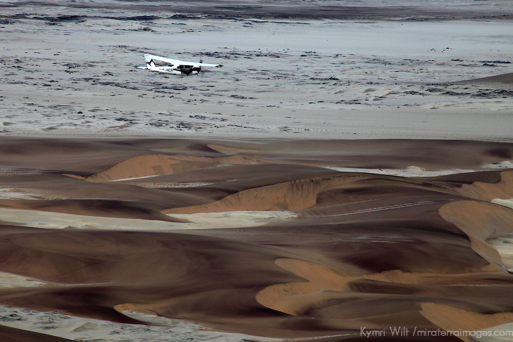 Africa, Namibia, Sossusvlei. Flying over the Namib Desert.