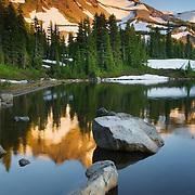 Mount Jefferson seen from Scout Lake in Jefferson Park, Mount Jefferson Wilderness, Oregon
